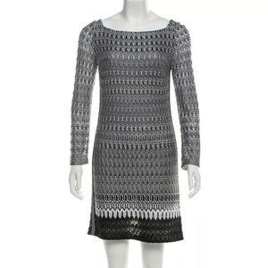 Missoni Black & White Flame Stitch Knit Dress 42